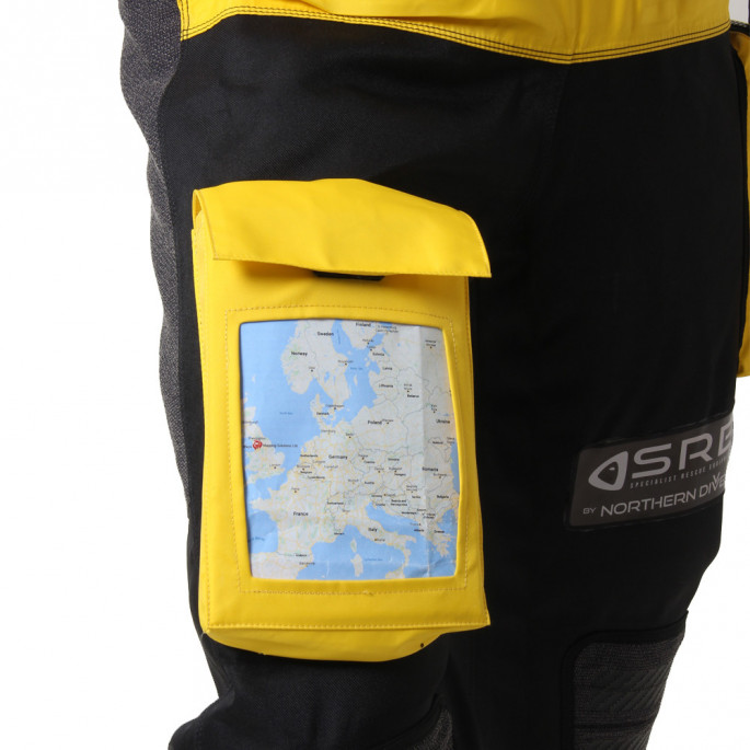 Isle of Man Rescue & Responder Suit - close up of bellows note book pocket
