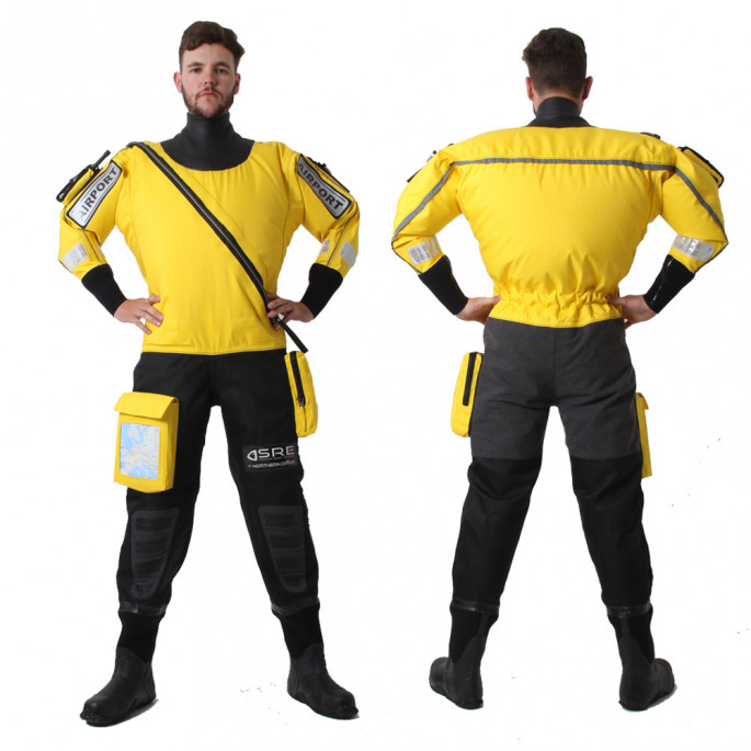 Isle of Man Rescue & Responder Suit - front & back view