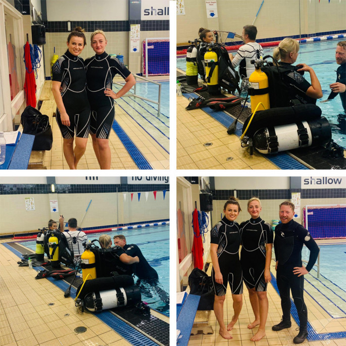 Maddie and Kristine from Northern Diver at a Chorley BSAC Try-Dive session - image collection