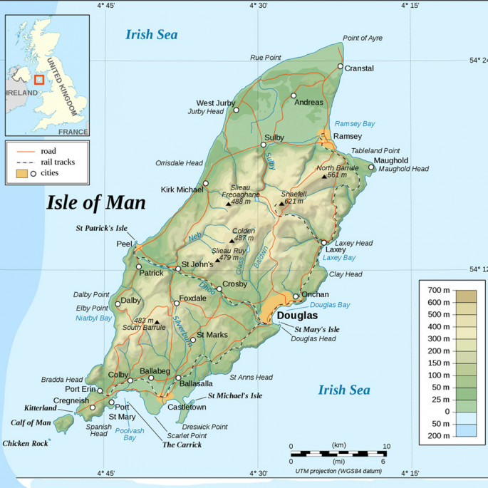 Isle of Man Rescue & Responder Suit - Isle of Man map