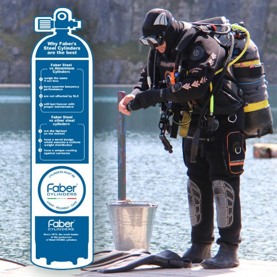 Faber's Cylinders are appreciated worldwide by scuba divers.