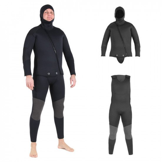 Neil in our 2 piece beavertail wetsuit