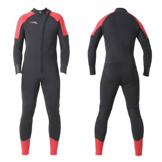 Storm 1-piece semi dry wetsuit supplied with a separate hood