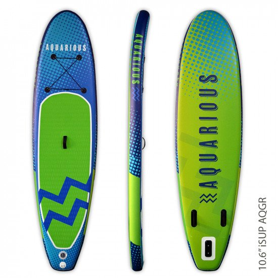 Aquarious iSUP board - Blue & Green waves