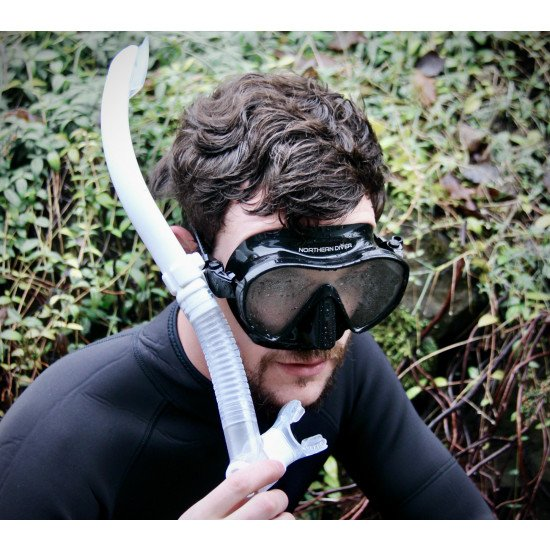 Scuba diving snorkelling mask black and white