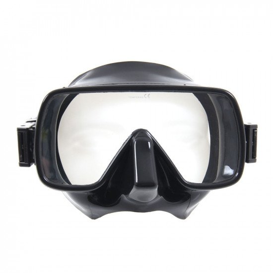 Black scuba dive snorkelling mask