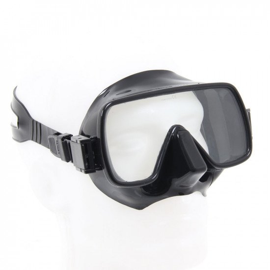 Vintage style underwater mask with frameless design