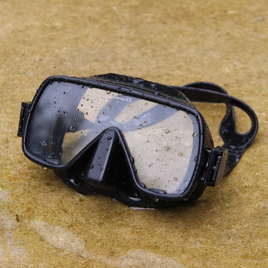 Classic black large lend dive mask