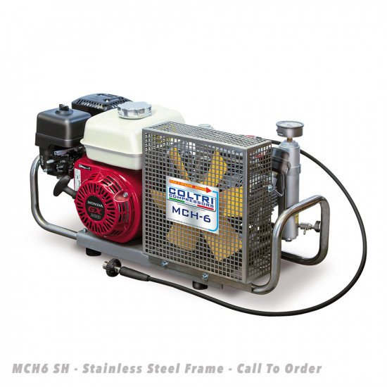 MCH6-SH-Portable-Compressor-Stainless-Steel-Frame-Front-View