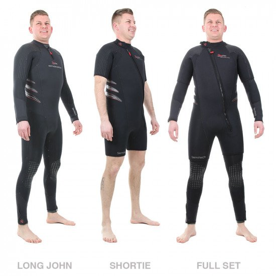 The Delta Flex Semi-Tech Wetsuit is available in a mens pattern
