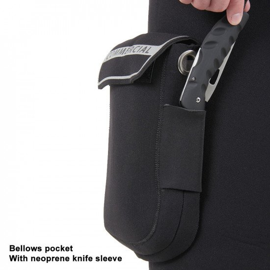 Divemaster Commercial bellows pocket with neoprene knife sleeve