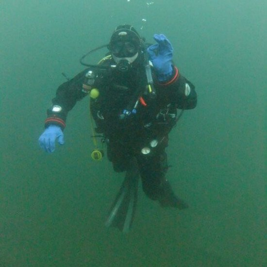 Northern Diver Dry Glove Ring System - Photograph by Sara Rogers - ND Customer