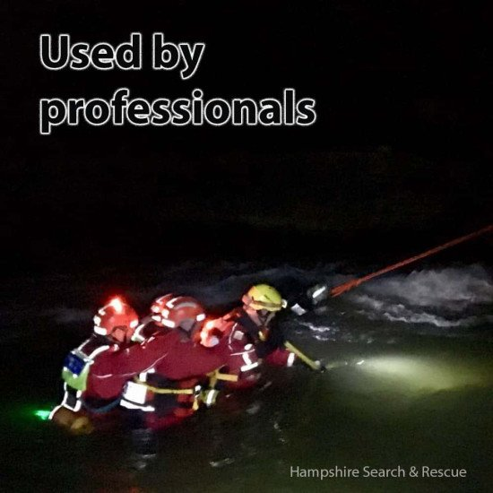 Flexi-Lights used by rescue, commercial military  and sport divers