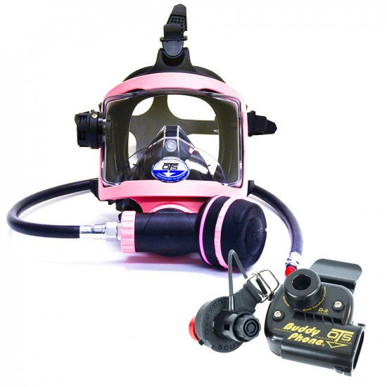 Pink colour OTS Guardian Full Face Mask and BuddyPhone Combo