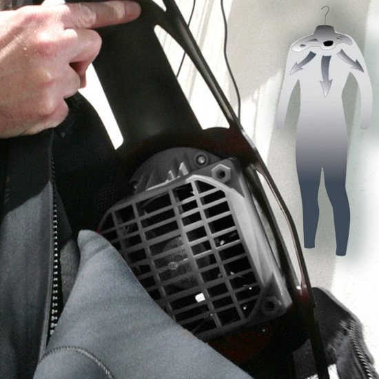 High power waterproof fan pushes 120 cubic feet of air per minute to dry your suit in record time.