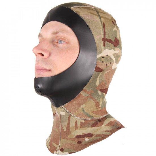 MTP pattern neoprene diving hood
