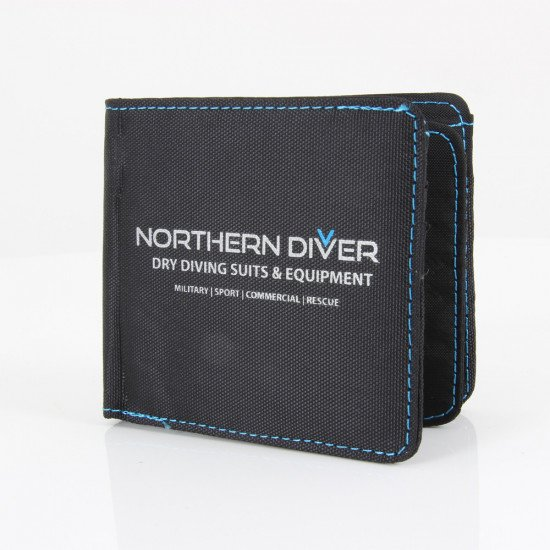 Black and blue ND Wallet - front view