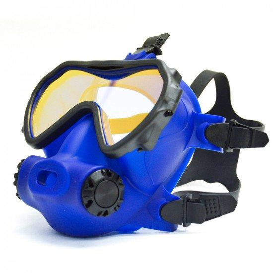 OTS blue skirted, coated lens Spectrum FFM - right side view