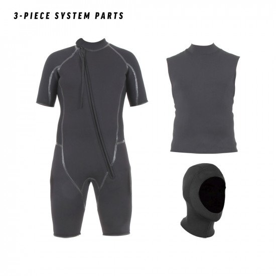 This 3 piece wetsuit system is ideal for almost any watersports scenario and climate