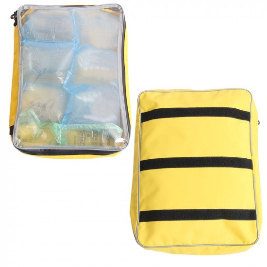 7L PVC storage bag front and back view