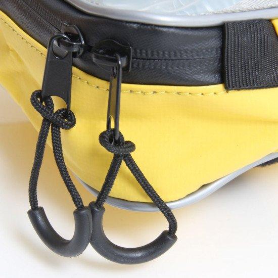 High vis yellow 7L zipped storage bags