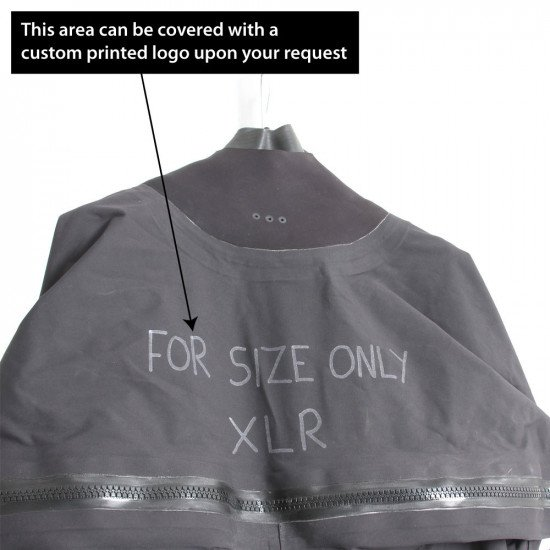 Surface suit is ex-demo and has writing on the chest along with the size XLR