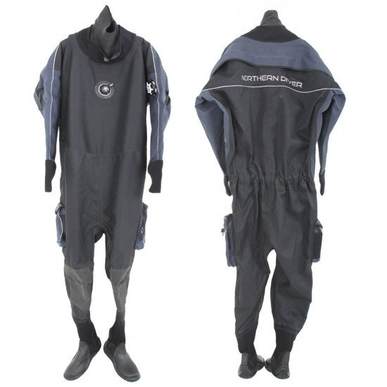 FRONT AND BACK VIEW SALE DRYSUIT