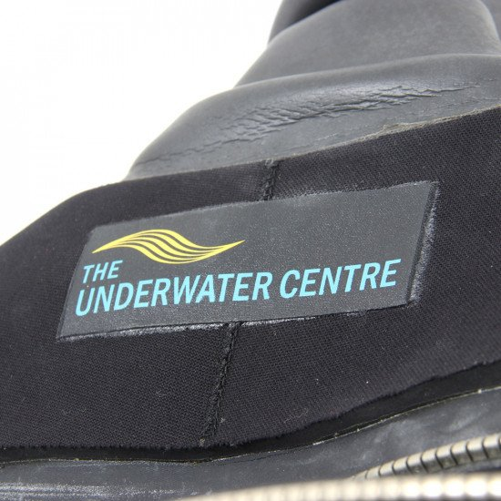 The Origin Drysuit is available off-the-peg with durable hard sole boots or steel toe and mid-sole foil safety boots.