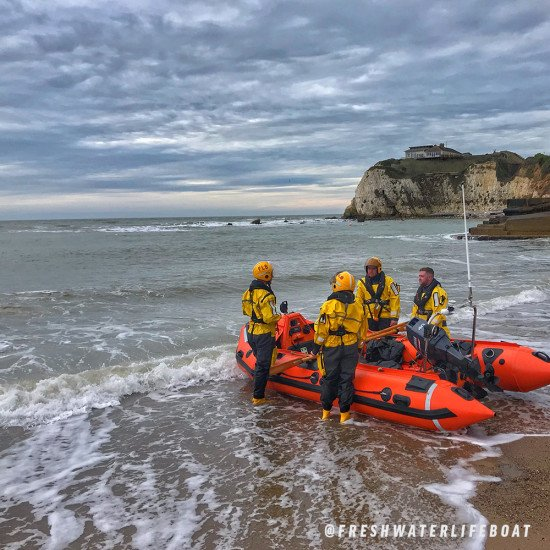 Easy to don rescue suit, ideal for fast rescue and response swimming applications - shown Freshwater Lifeboat Team