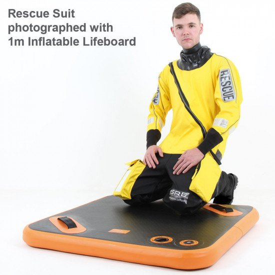 A tri-laminate rescue and response on-water suit available with alterations and branding upon reques