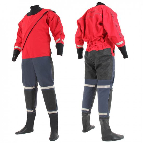 SF4 320D FE Red/Navy Heavyweight Surface Suit | Surface Suits for Sale | Northern Diver Internationa