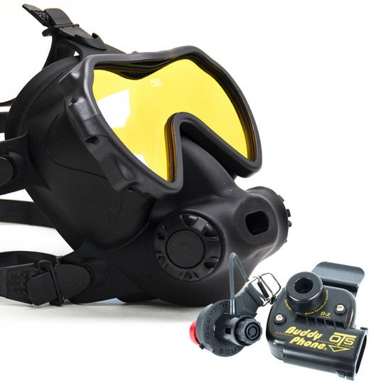 Spectrum Full Face Mask, Colour Black, Lens Coated with BuddyPhone