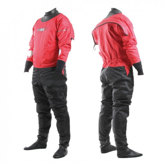Our rear entry red version of the SF4 storm water rescue membrane suit