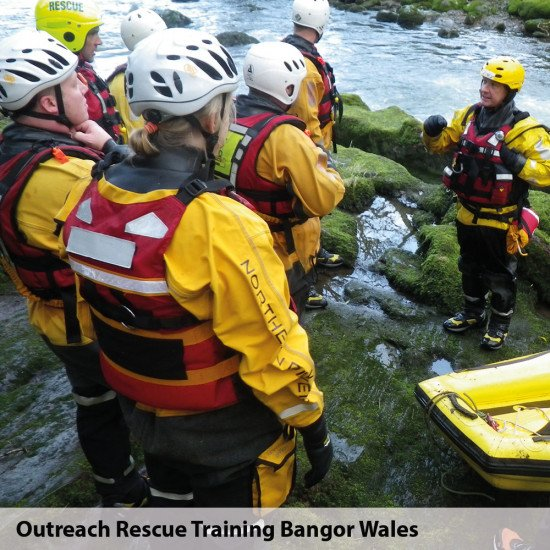 Outreach rescue training in Bangor Wales