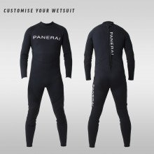 Custom military wetsuit branded with a PANERAI logo