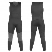 The classic Farmer John wetsuit is a one-piece sleeveless suit that covers the legs and torso.