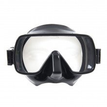 Black scuba dive snorkelling mask