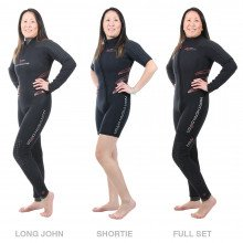 The Delta Flex Semi-Tech Wetsuit is available in a women's pattern