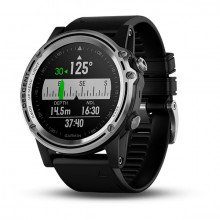 Garmin Descent™ Mk1 Silver Sapphire with Black Band front view