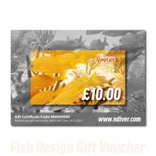 Various designs available for Northern Diver gift cards