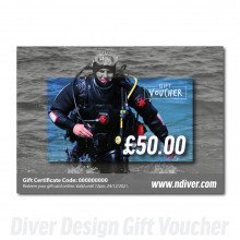 Northern Diver Gift Cards are available in multiple amounts.