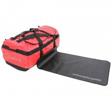 160L NDB5 Red Holdall and changing mat outstretched