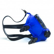 OTS blue skirted, Spectrum FFM - straps left side view