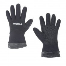 Small neoprene dry gloves with attached latex wrist seal that can be trimmed to size