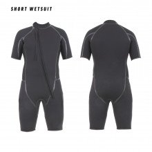 The shortie wetsuit is made from 6mm fully black superstretch neoprene.