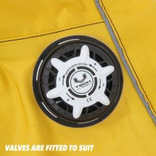 The suit is supplied with a bag, hood, hose and maintenance kit