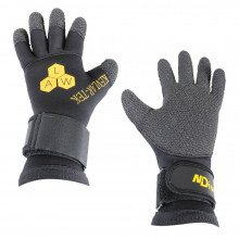 ALW black kevlar-tek hard wearing dive glove in smaller size only
