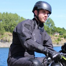 Black surface watersports suit