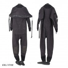 Size XXL black surface watersports suit - Z1700
