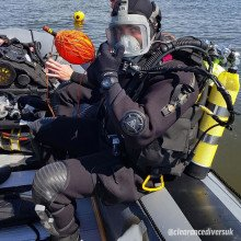 This drysuit design has been provided to the Royal Navy over the years